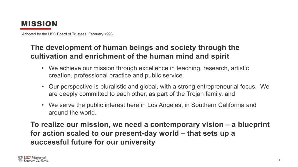 Slide: University Mission