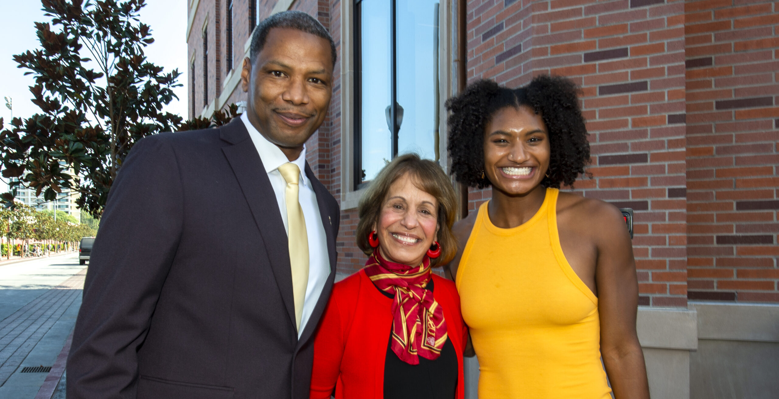 Quincy Watts, Carl L. Folt and Anna Cockrell